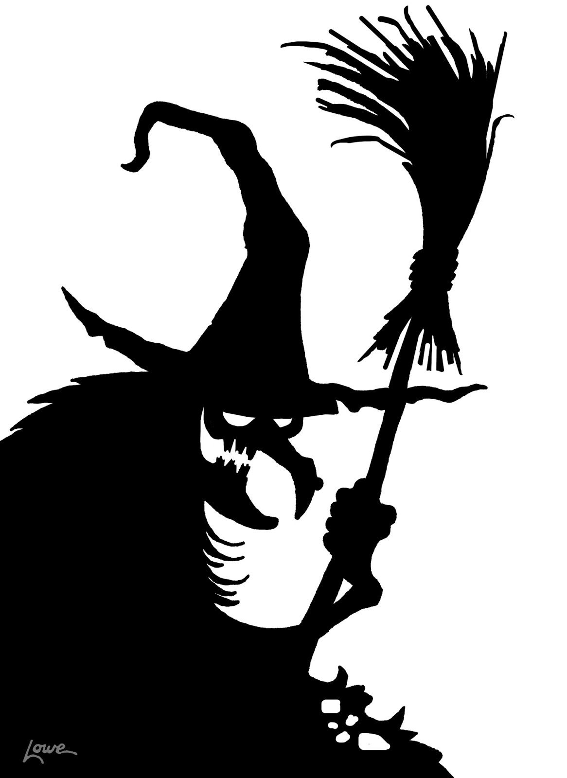 DAVE LOWE DESIGN the Blog: Witchcrafty Window Silhouette ...