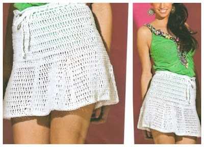 Minifalda Patron Crochet