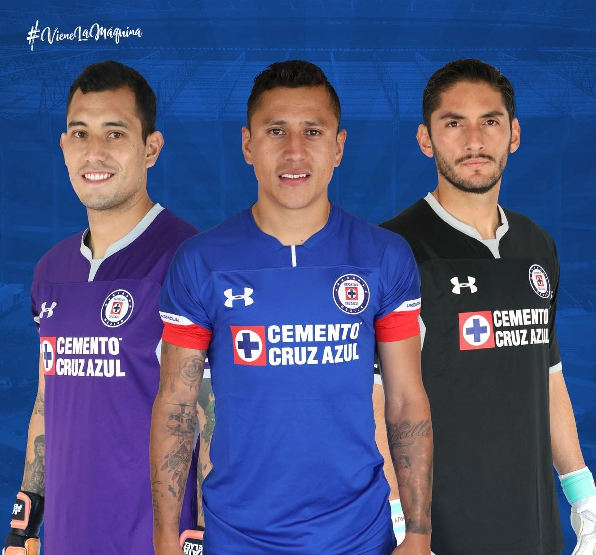 8f9899d0524 The Cruz Azul 2018-19 third shirt is also based on the template used for  home and away - it s red with a blue collar and more blue trim on the  sleeves.