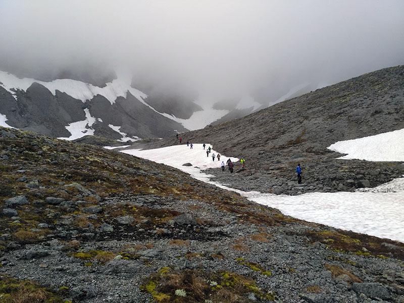 хибины спуск с перевала северный чоргорр