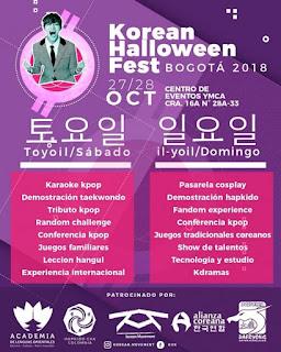 Programacion Korean Halloween Fest Bogotá 2018