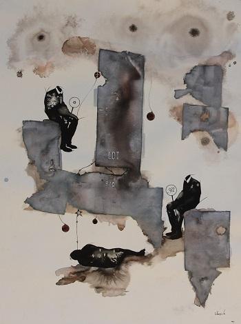 by Boniface Maina | imagenes de obras de arte contemporaneo bellas, pinturas tristes, figuras abstractas | sad art paintings, drawings