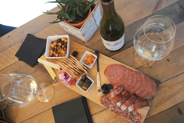 Charcuterie board at Stoller vineyards for Portland Blogger meet-up