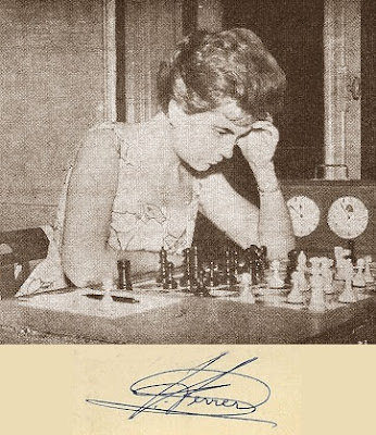 La ajedrecista Pepita Ferrer Lucas