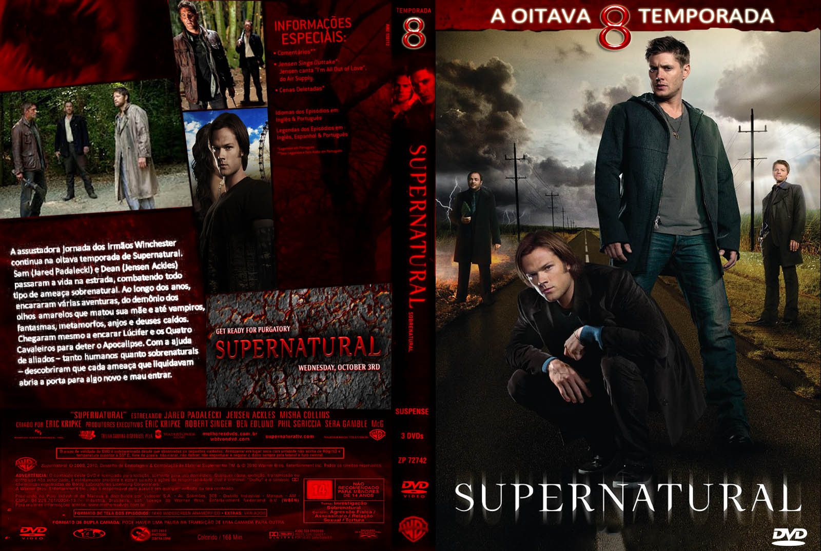 Supernatural (Sobrenatural) 1ª à 8ª Temporada Dublado – Torrent