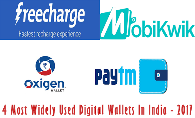 4 Most Widely Used Digital Wallets In India - 2017