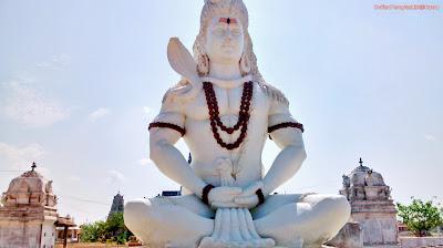 Sri Kotilingala temple Muktyala- Lord Shiva Statue
