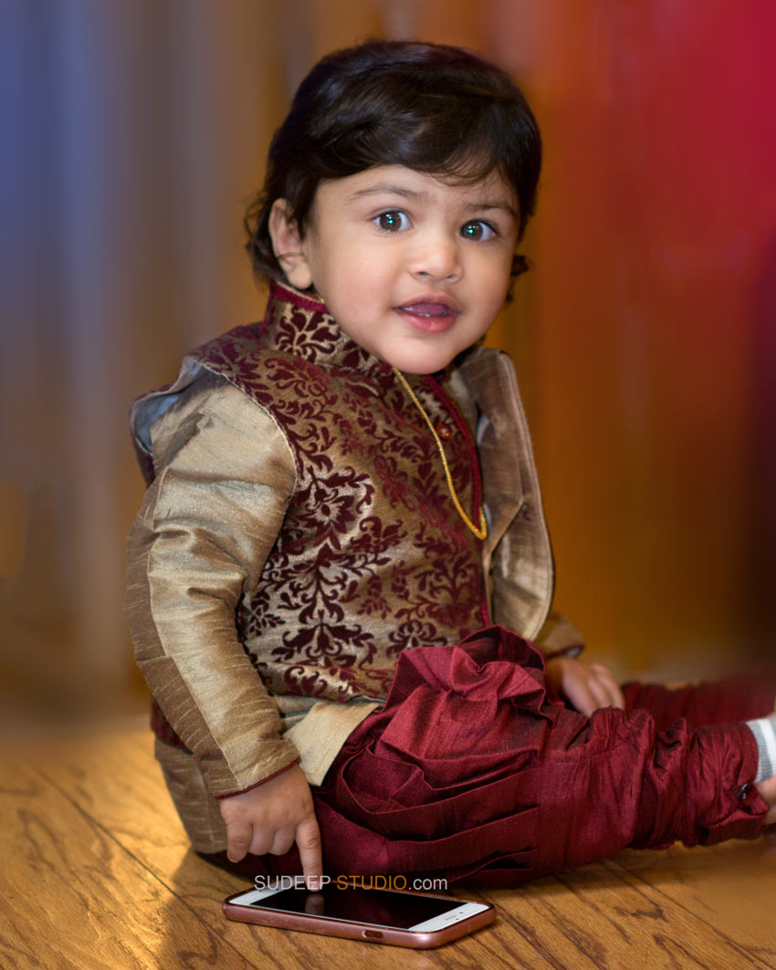 1st Birthday Party Photography Indian Boy - Sudeep Studio Ann Arbor Photographer