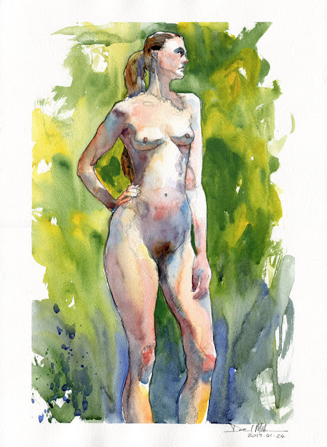 Watercolour Nude 2013.01.24 by David Meldrum