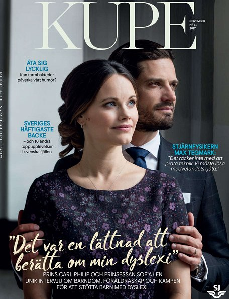 Prince Carl Philip and Princess Sofia of Sweden gave an interview to Swedish monthly magazine Kupé