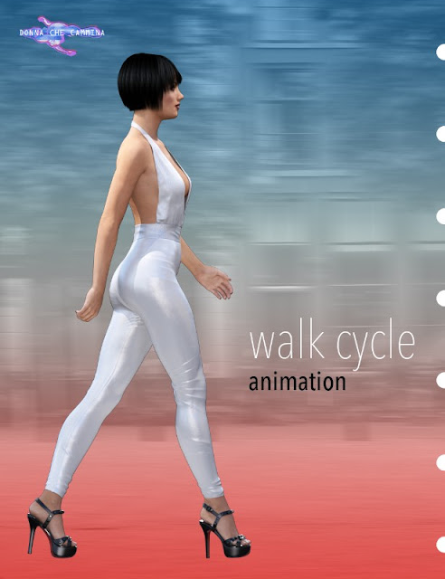 Fashion Walk Cycle Animation for Genesis 3 Female