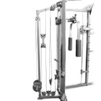Upper pulley system's steel aircraft cables on Marcy SM-4008 Combo Smith Machine