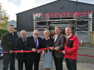 Minister Regina Doherty at the opening of Ridgeway's newest depot in Ashbourne, Meath