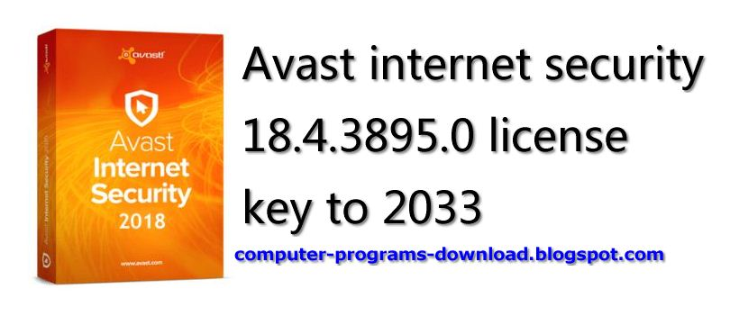 Avast internet security license file till 2038 free download | Avast