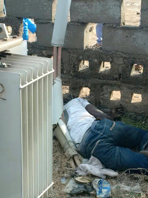 VIEWERS DESCRETION: THIS MAN WAS ELECTROCUTED WHILE TRYING TO STEAL TRANSFORMER CABLES