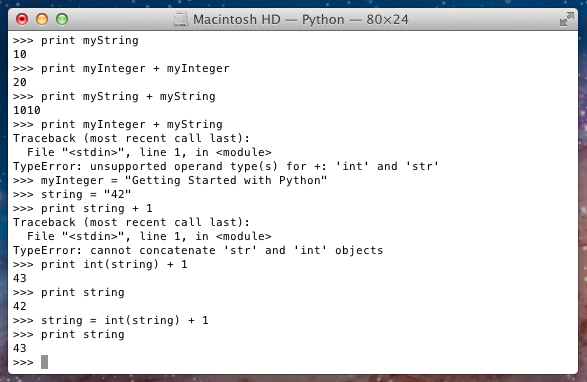 Getting Started with Python: January 2012