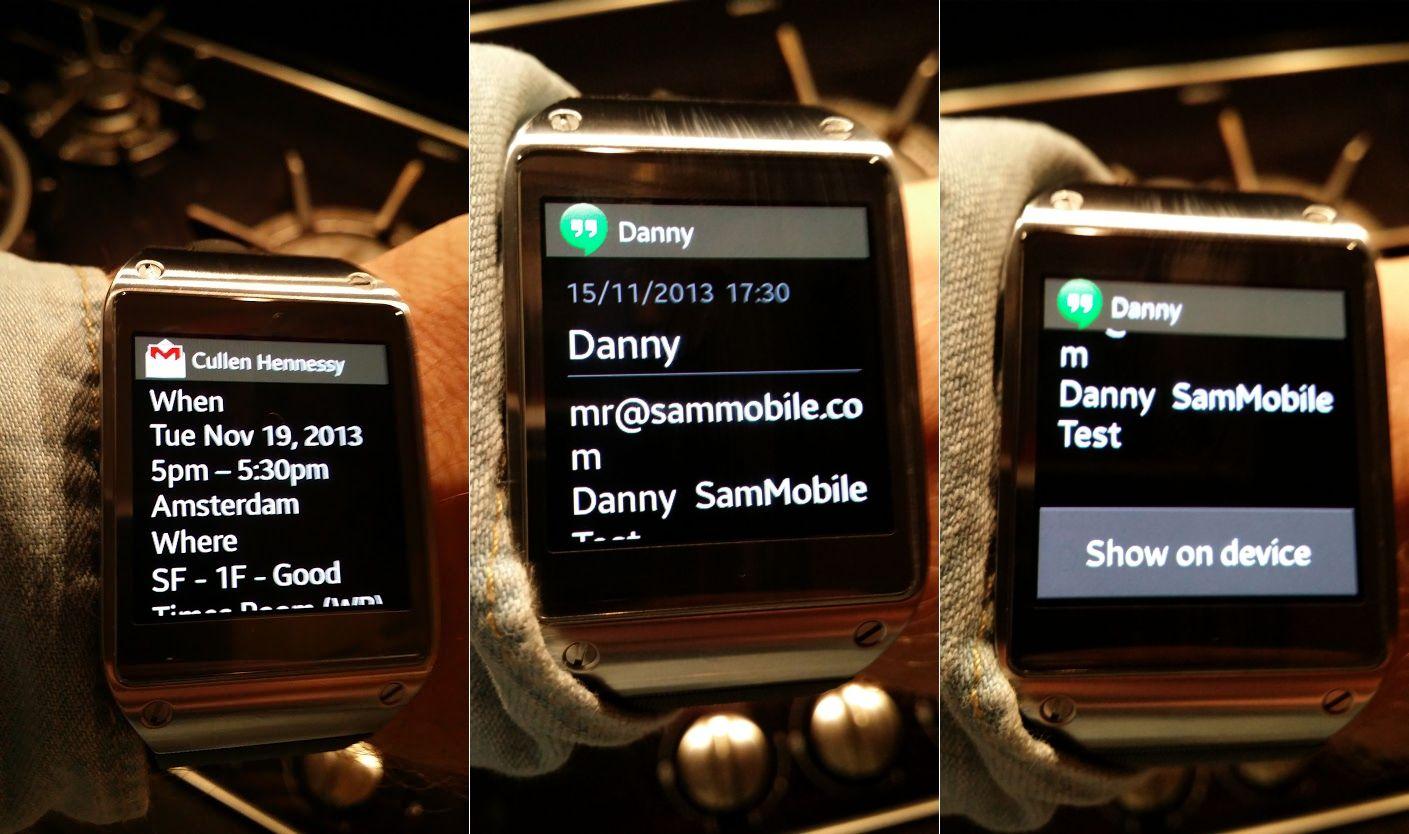 Galaxy Gear já pode mostrar muitas mais notificações | Aberto até de