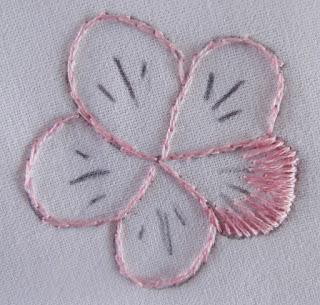 flower, petal, embroidery, stitching, thread painting, needle painting