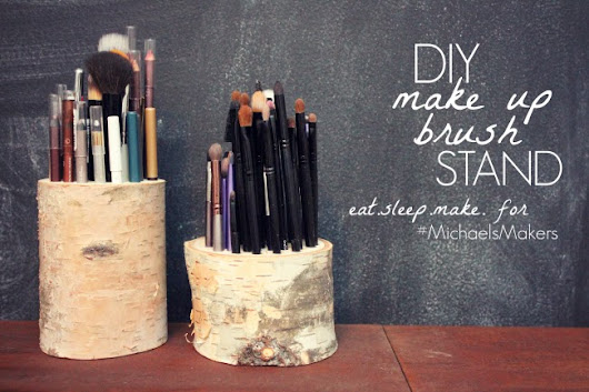 DIY Make Up Brush Stand #MichaelsMakers