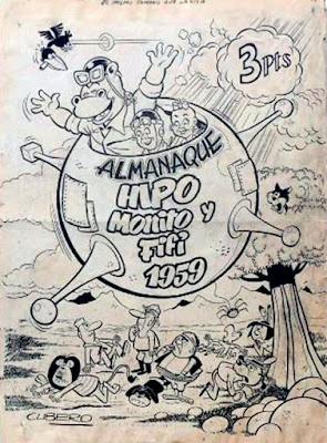 Portada del Almanaque de Hipo, Monito y Fifí 1959