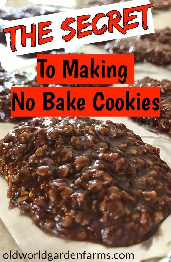 No Bake Cookies Recipe