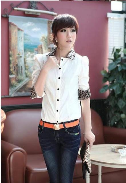 Model Pakaian Kemeja Putih Wanita Kasual Terbaru
