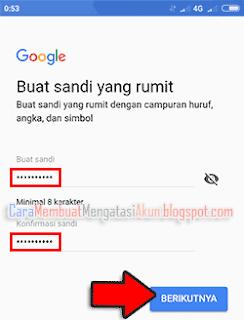 cara membuat kata sandi akun google