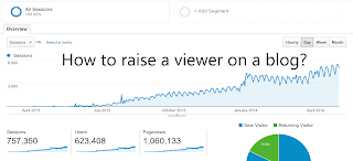 How to raise a viewer on a blog?