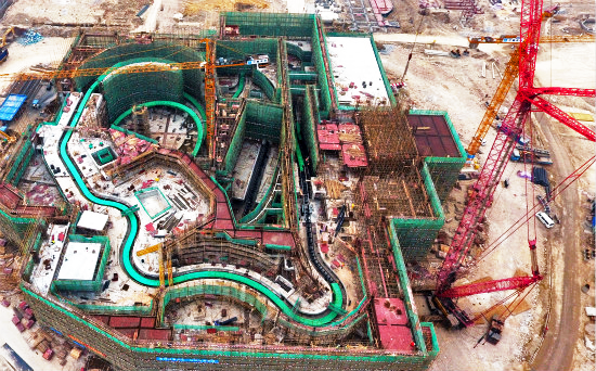 The Guangzhou Wanda Movie Park construction of the multi-dimensional cinema project.