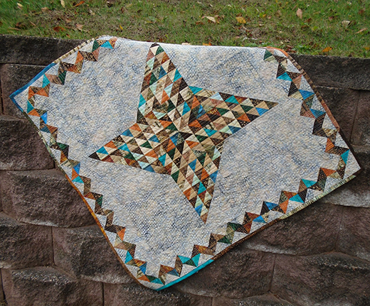 Quilting Land: Faceted Friendship Star Quilt