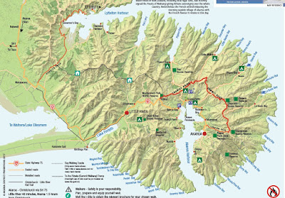 Creates Sew Slow: Banks Peninsula map