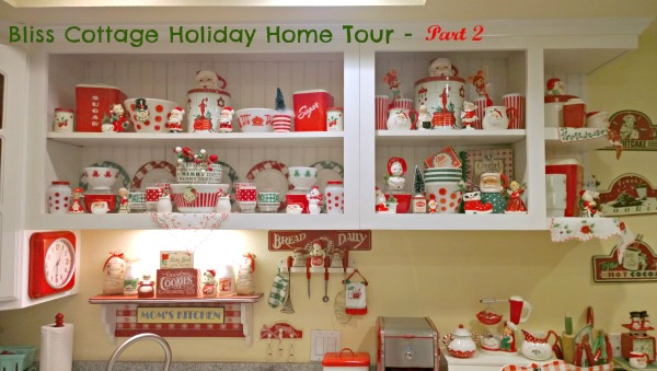vintage kitchen, mid century kitchen, Christmas kitchen