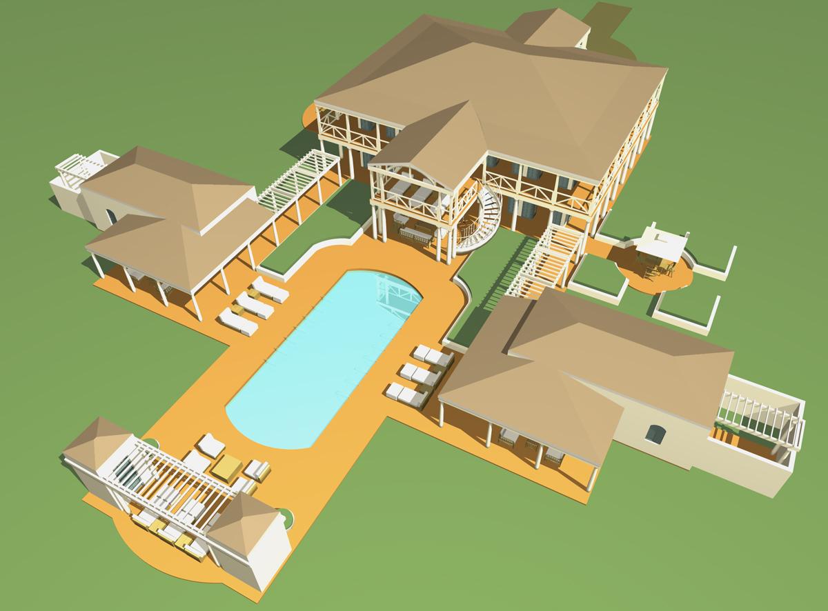 Tropical Island House Plans
