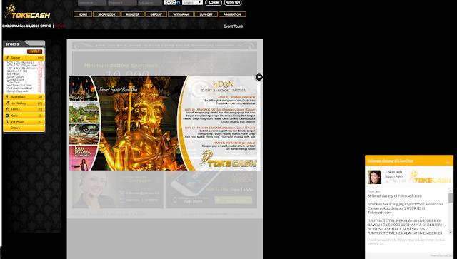 Tokecash.com Agen Judi Bola, Poker dan Live Casino Online Terpercaya
