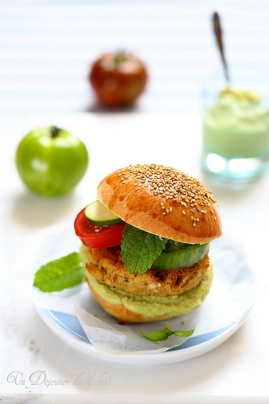 Hamburger de thon et pois chiches