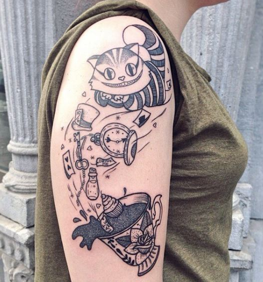 Alice In Wonderland Tattoos