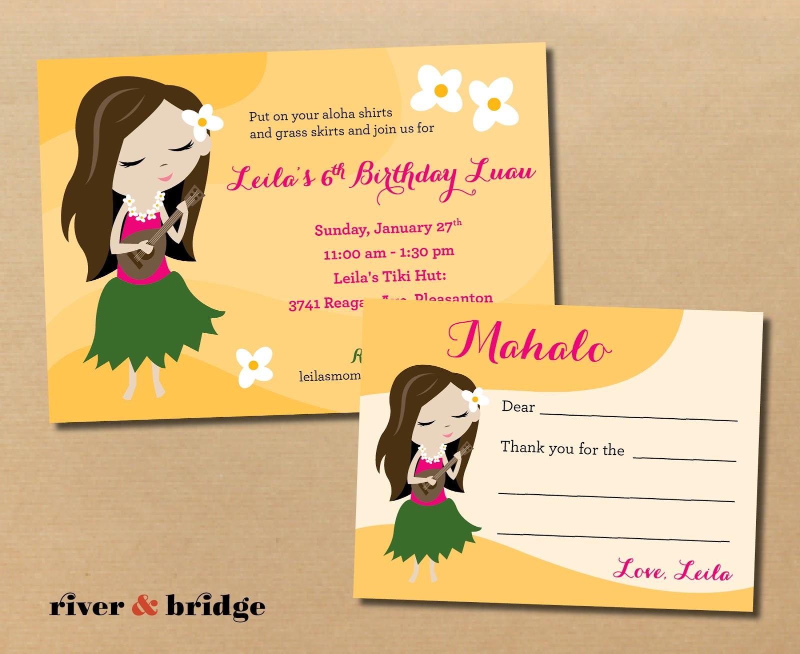 Cheap Hawaiian Invitations