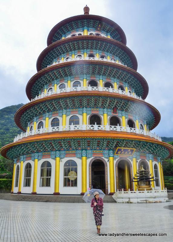 Lady in Wuji Tianyuan Temple in Taiwan