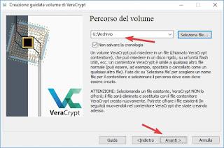 Volume di VeraCrypt