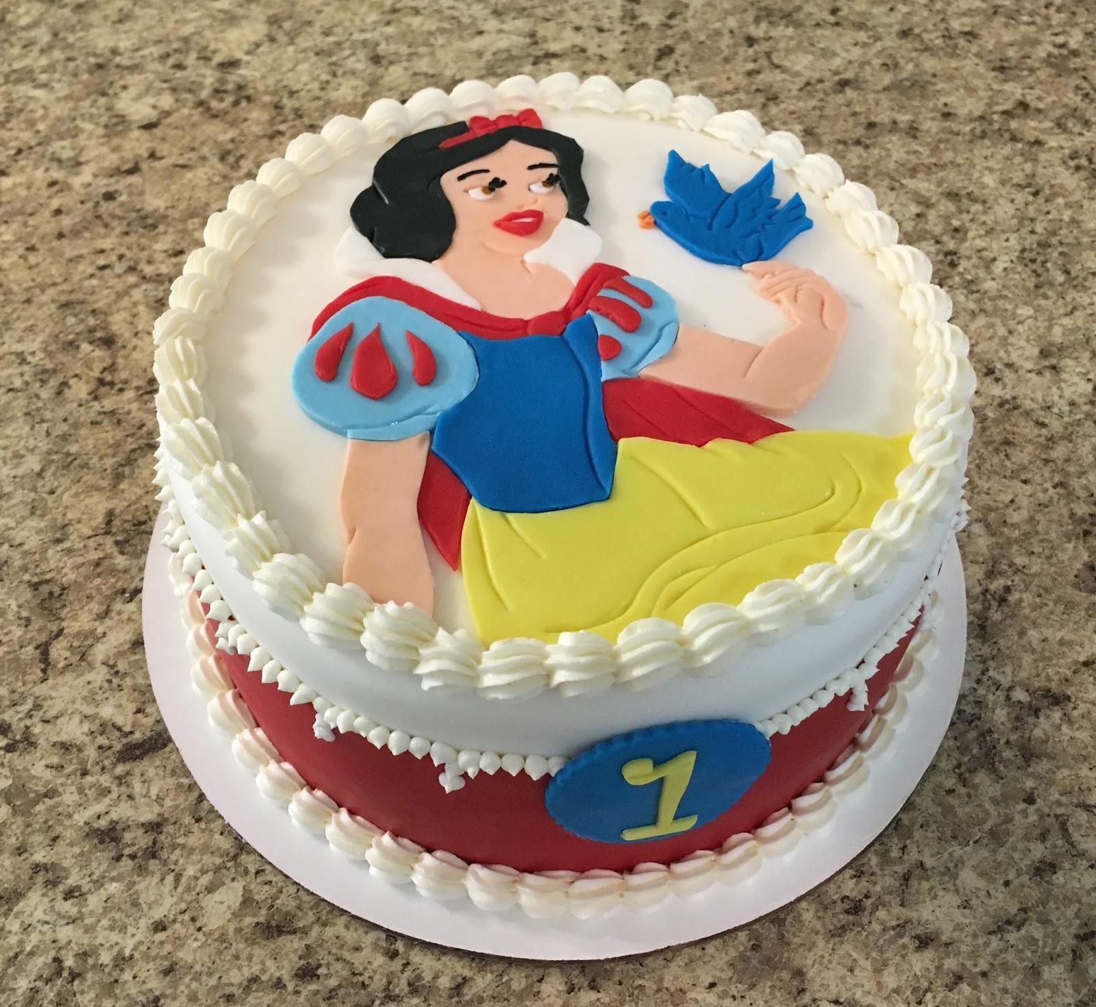 Astonishing Cakes By Becky Snow White First Birthday Funny Birthday Cards Online Alyptdamsfinfo