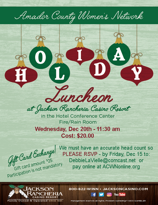 ACWN Holiday Party - Wed Dec 20