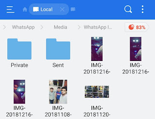 WhatsApp private folder
