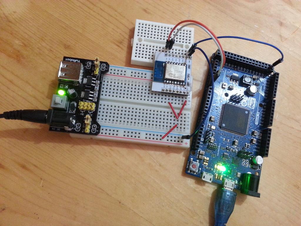 Arduino-er: Arduino Due + ESP8266: Web Control LED