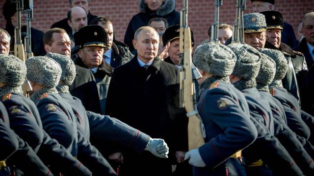 Putin alaba a fuerzas rusas que luchan contra terrorismo en Siria