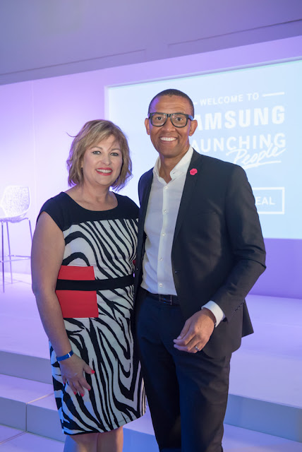 Samsungs_Michelle_Portgieter_with_MC_Andile_Khumalo #thelifesway