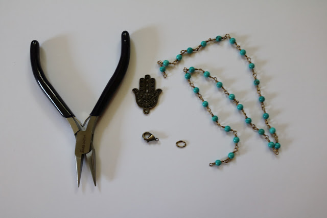 DIY Hamsa Necklace Supplies