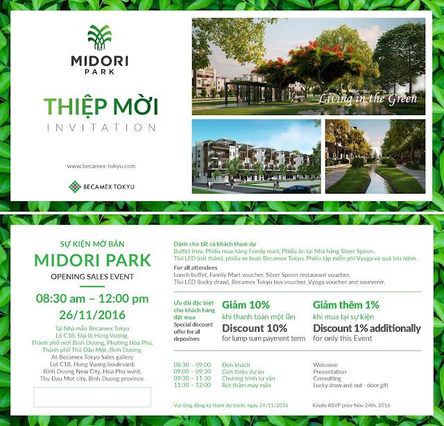 Sự kiện mở bán chính thức dự án MIDORI PARK
