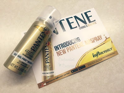 www.enchantedexcurse.com Review for Pantene Airspray. Given Complimentary to me from Influenster