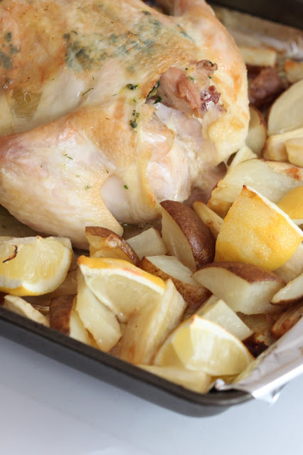 Herbed Roast Chicken with Potatoes and Parsnips   Tortillas and Honey