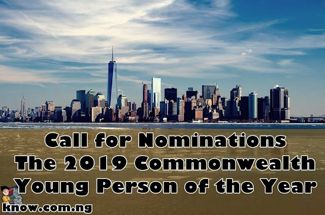 Call for Nominations: The 2019 Commonwealth Young Person of the Year